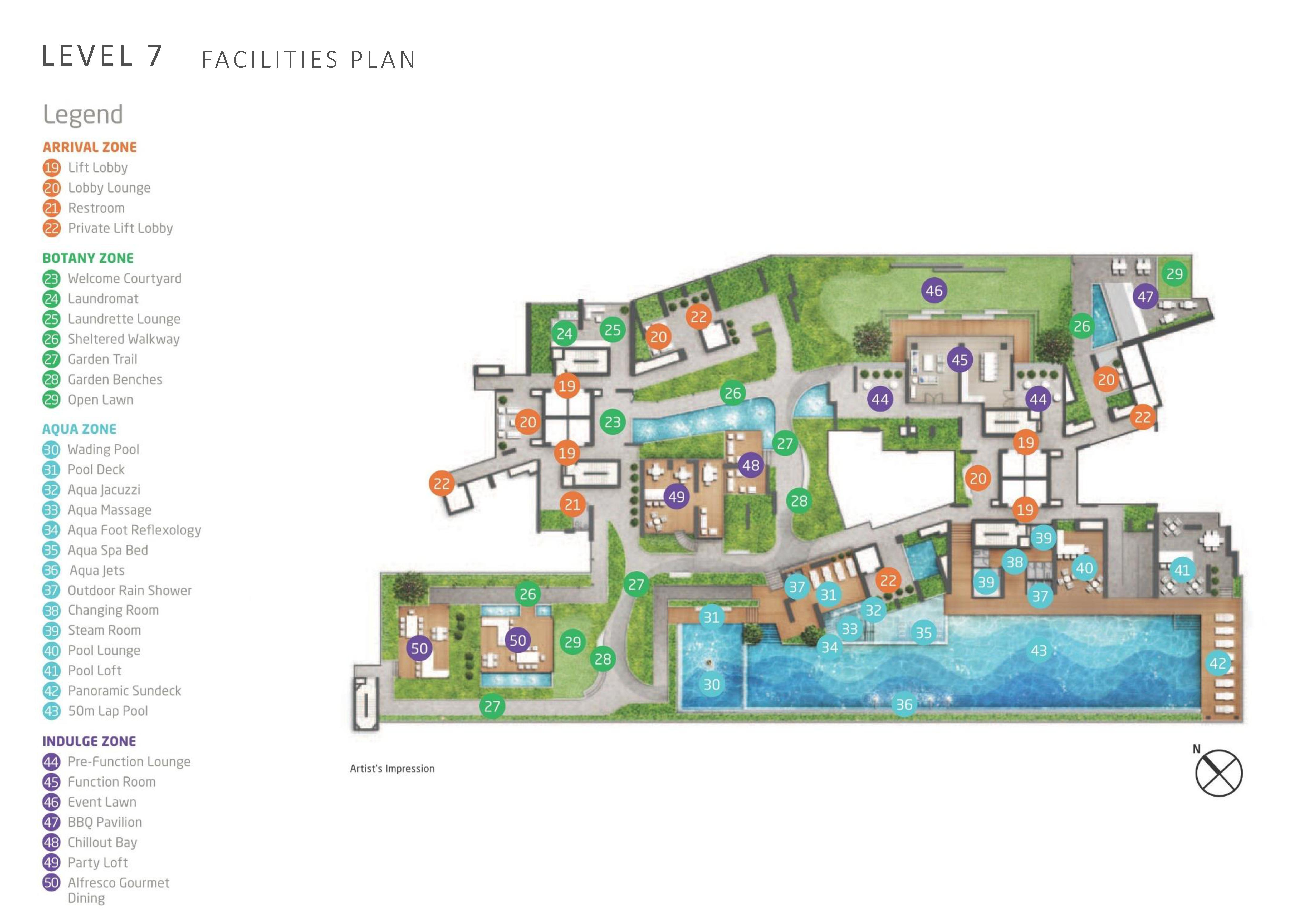Queens Peak Level 7 Site Map
