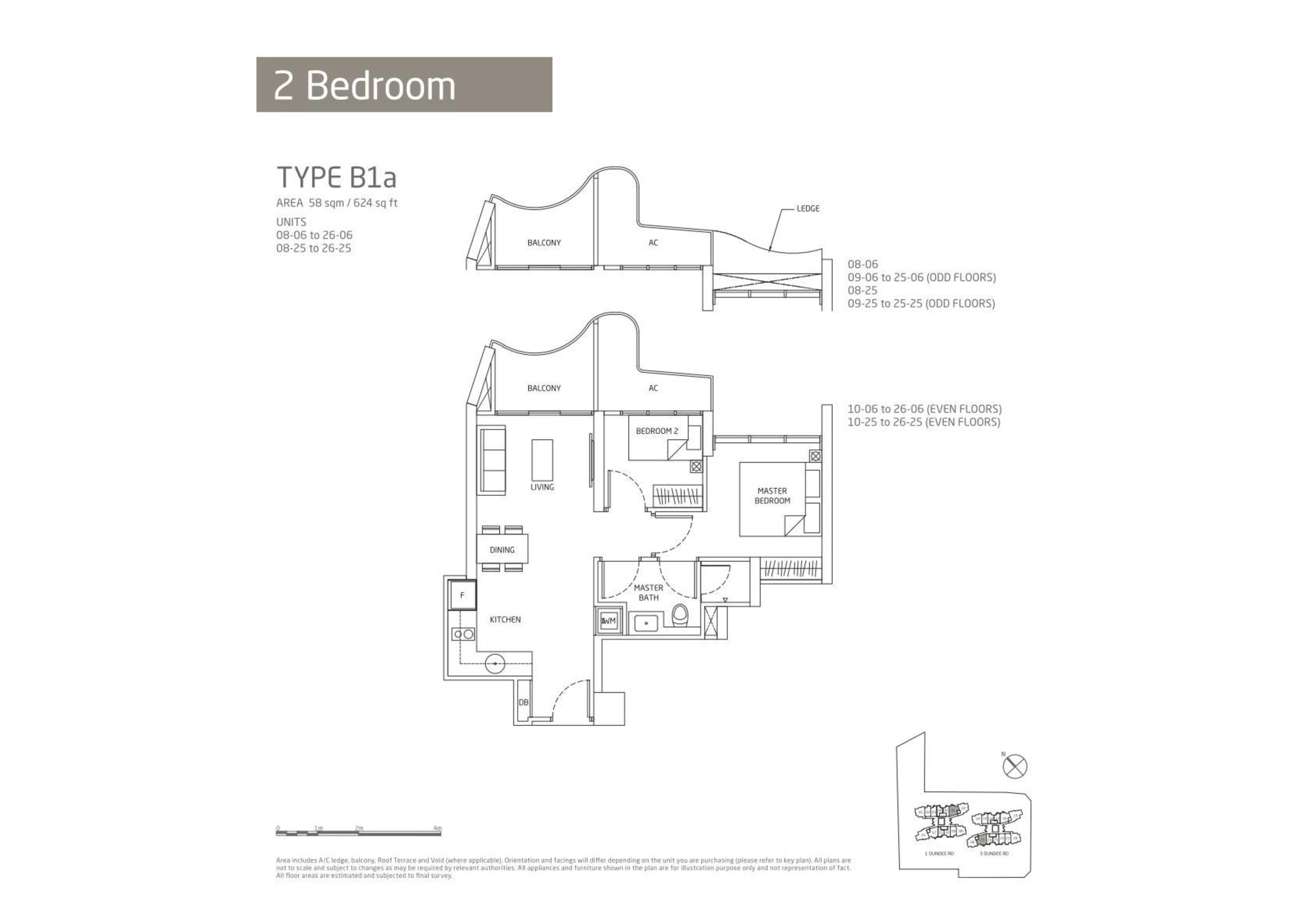 Queens Peak 2 Bedroom Floor Plans Type B1a