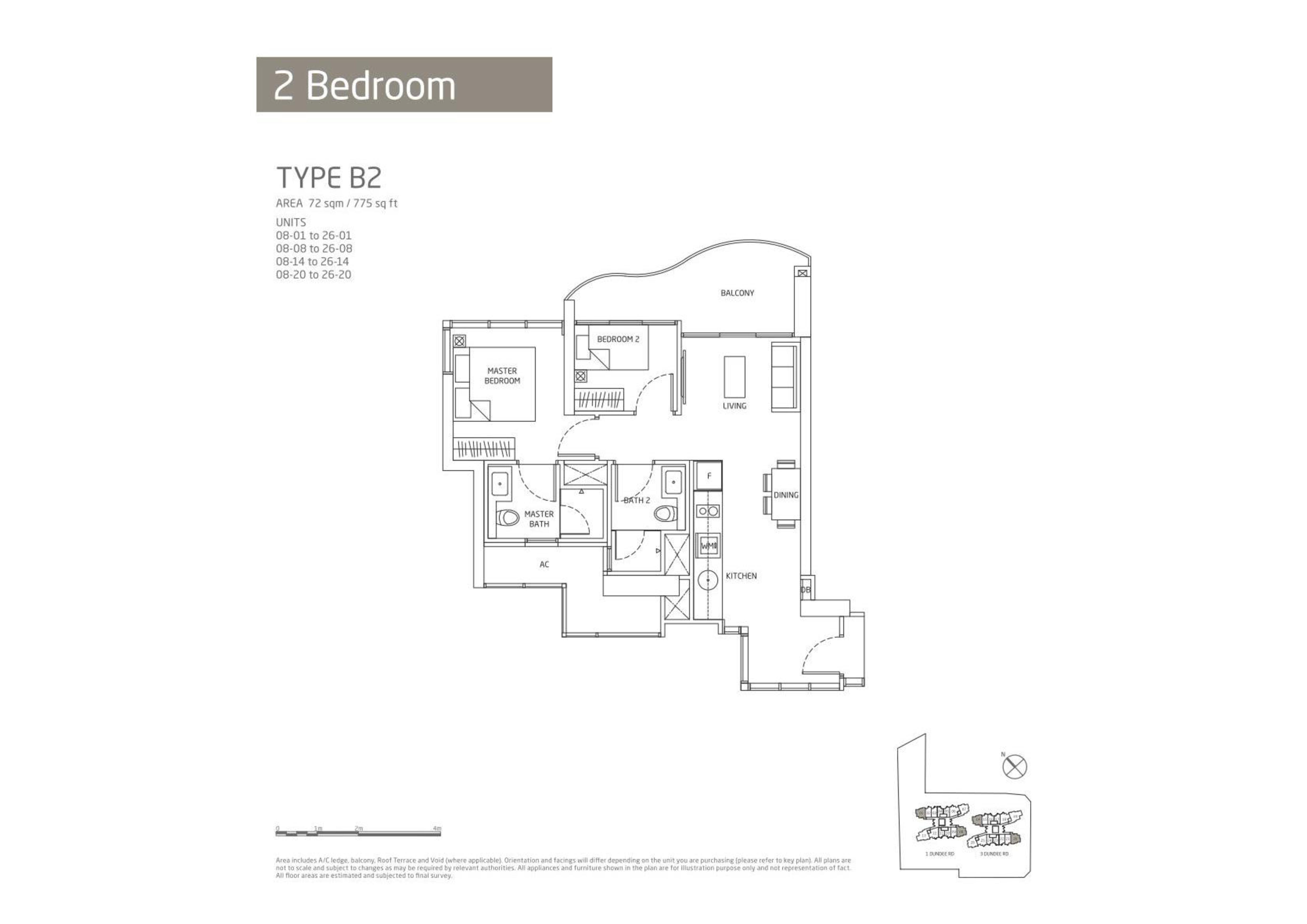 Queens Peak 2 Bedroom Floor Plans Type B2