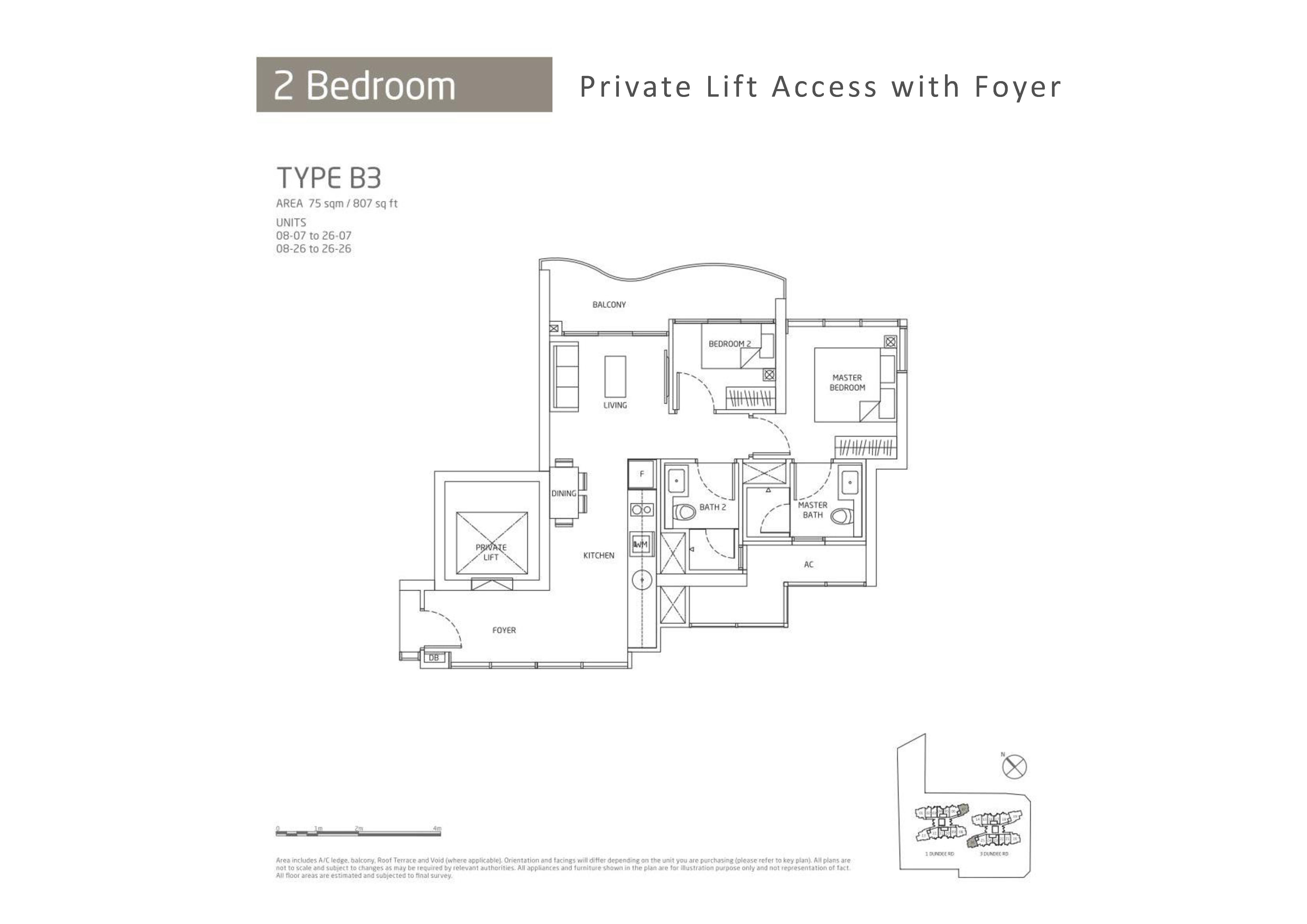 Queens Peak 2 Bedroom Floor Plans Type B3